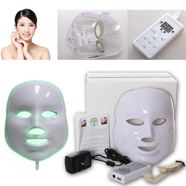 Photodynamic LED Facial Mask Skin Rejuvenation Wrinkle Removal Electric Device Anti-Aging Mask Therapy 3 Colors Beauty Machine