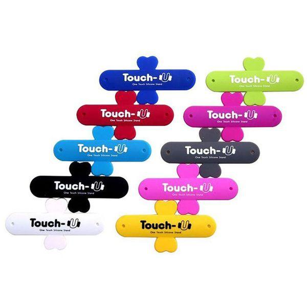 En gros 500 Pcs / lot Support de téléphone Portable One Touch U Support de support en silicone Téléphone portable Coche Monte support de téléphone pour téléphone