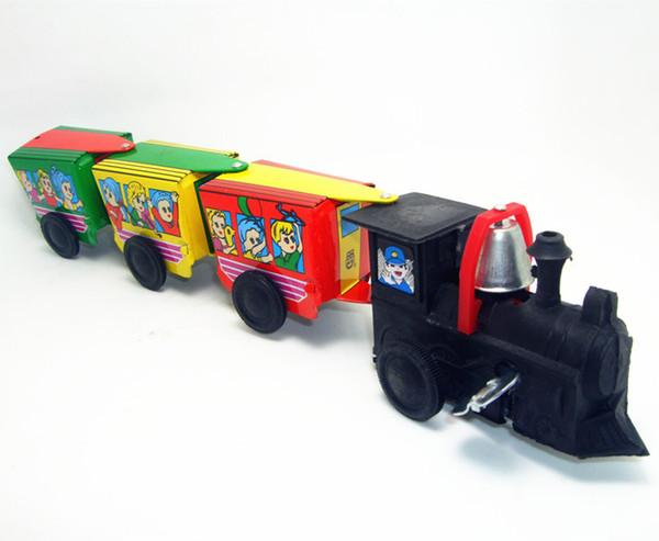 120pcs/lot Classic collection Retro Clockwork Wind up Metal Walking Tin Toy Train car Robot Mechanical kids christmas birthday gift