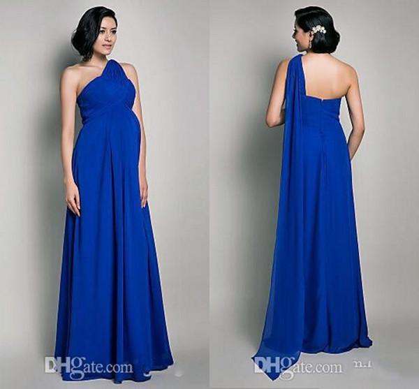 Großhandel Royal Blue Lässige Chiffon Mutterschaft Brautkleider 2015 ...