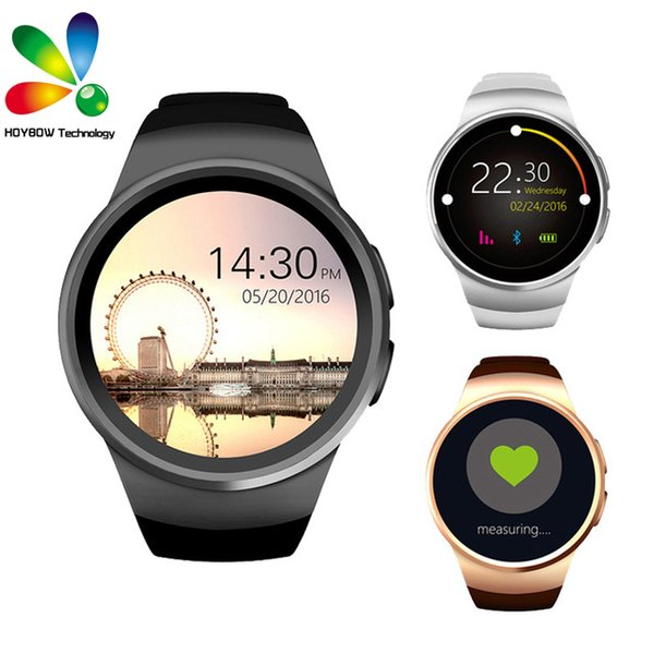e7291575d KW18 Smart Watch Bluetooth Heart Rate Monitor Intelligent Smartwatch  Support SIM TF Card for apple samsung