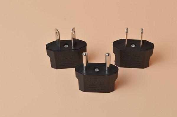 Universal USA Travel Plug Adaptador EU To US Plug Adapter Converter AC Power Electrical Plug Connector contacts 4.8 mm 100pcs/lot