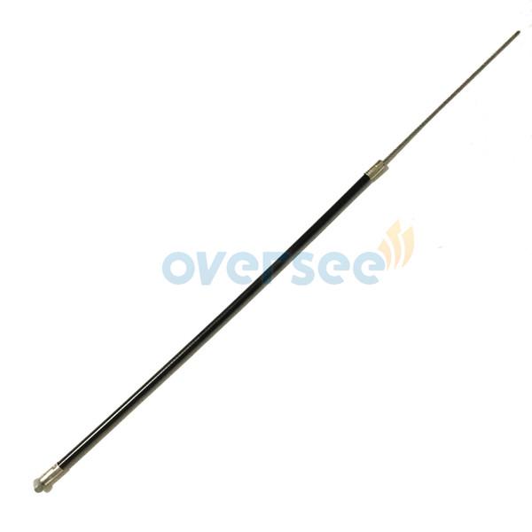 Cable de acelerador OVERSEE 6E0-26301-01-00 Caja de acero inoxidable para montar Yamaha 4HP 5HP Piezas de repuesto del motor Mango de dirección