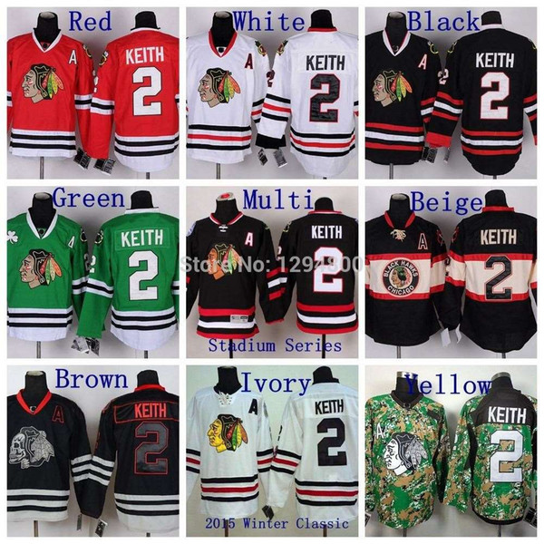 2015 Men Chicago Blackhawks Hockey Jerseys #2 Duncan Keith Jersey Winter Classic White Duncan Keith Stitched Embroidery A Patch