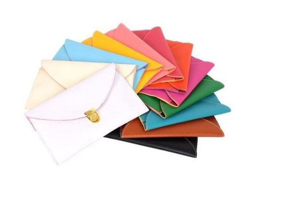 Womens Envelope Clutch Chain Purse Lady Handbag Hot Selling Leather Tote Shoulder Hand Bag 14 colors Free Shipping