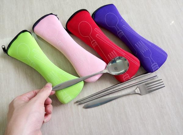 Juego de vajilla robusto para juego de vajilla de picnic al aire libre Vajilla de cuchara de acero inoxidable Juego de vajilla para vajilla Gift 1 9kg B R