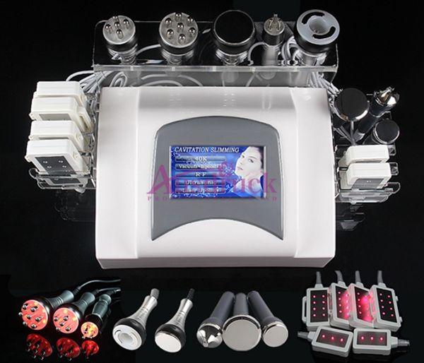Free shipping 7IN1 40K Ultrasonic Cavitation Radio Frequency Vacuum RF Lipo Laser Slimming Machine Weight Loss Body Shaping