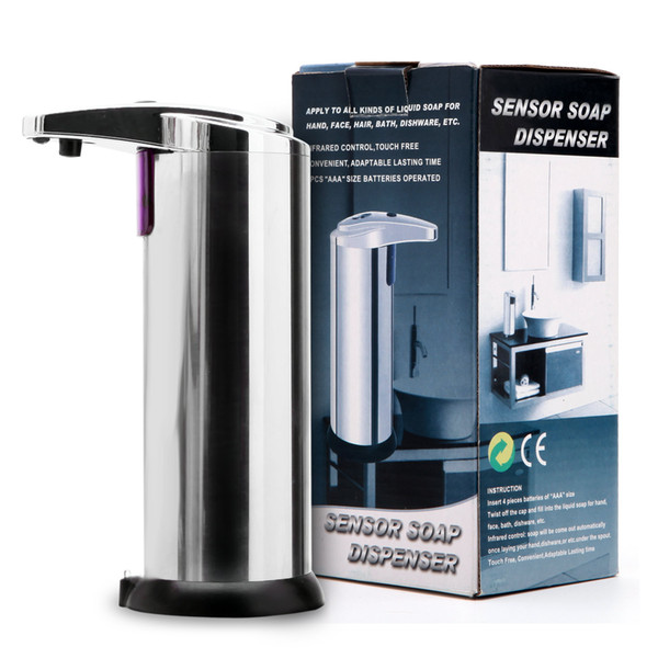 sensor soap dispenser liquid soap dispenser stainless steel automatic hands wash machine portable motion activated w/stand
