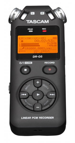 top popular Promotion price Tascam dr-05 Handheld Professional Portable Digital Voice Recorder MP3 Recording Pen in stock free shipping 2020