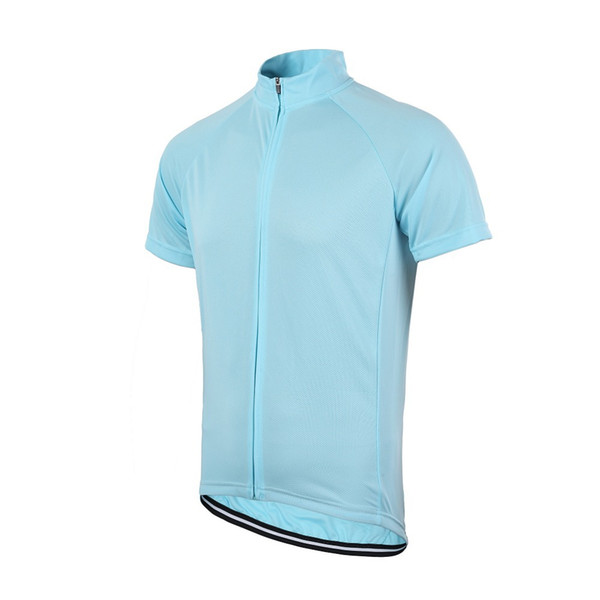 best selling Wholesale-Free Shipping Men's Women's Solid Cycling Short Sleeve Jersey Full Length Zipper Unisex Bike Jersey