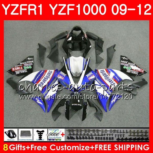 Body For YAMAHA YZF 1000 R 1 blue black YZFR1 09 10 11 12 Bodywork 85NO48 YZF1000 YZF R1 2009 2010 2011 2012 YZF-1000 YZF-R1 09 12 Fairing