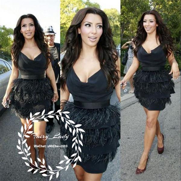 Großhandel Kim Kardashian 2018 kurze kleine schwarze Kleider ...