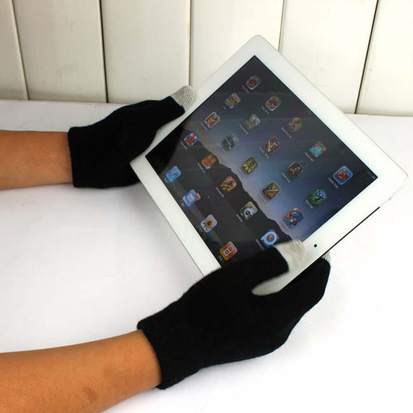 Wholesale-Free Shipping Wholesale 500pairs /lot Magic Touch Screen Gloves Smartphone Texting Stretch Adult One Size Winter Knit