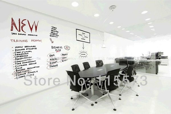 YENI VARıŞ, peel ve sopa beyaz tahta sticker, vinil kara tahta, 45 cm * 200 cm / adet, ücretsiz kuru silme marker ve silgi dahil