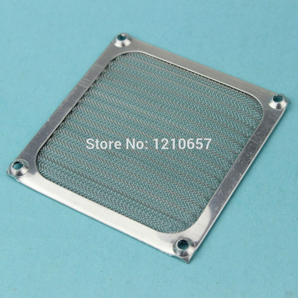 Wholesale- 2Pieces lot 80mm PC Computer Fan Cooling Dustproof Dust Filter Case fr Aluminum Grill Guard