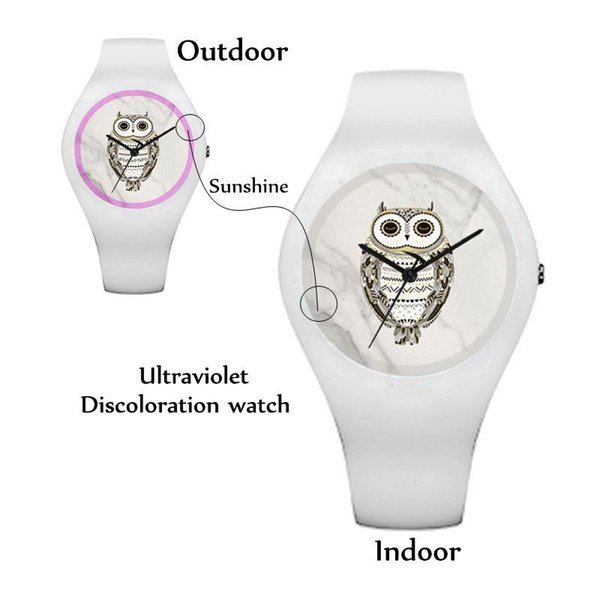 ultraviolet skull punk test watches discoloration uv watch magic outdoor product rubberwomen