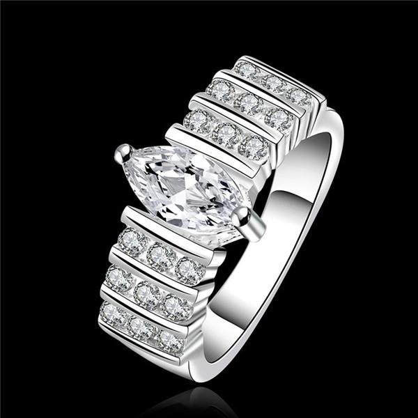 2015 new design 925 sterling swiss CZ Diamond Wedding / Engagement Ring Fashion Jewelry Free Shipping