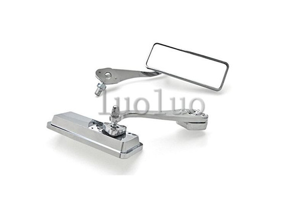 Solid Aluminum Chrome Motorcycle Rear View Mirror Set Cruiser + Bolt Adapters Fits Most view mirrors motorcycle