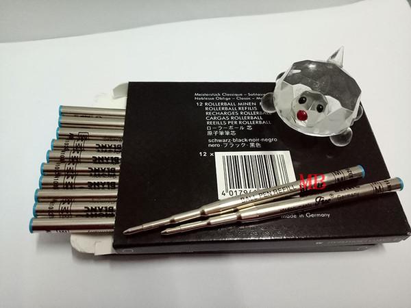 Classique 12 Stück MB Kugelschreiber Schwarz / Blau Refill Medium Point mit niedrigem Preis kann gemischte Kollokation nicht die Tinte Refills Cap