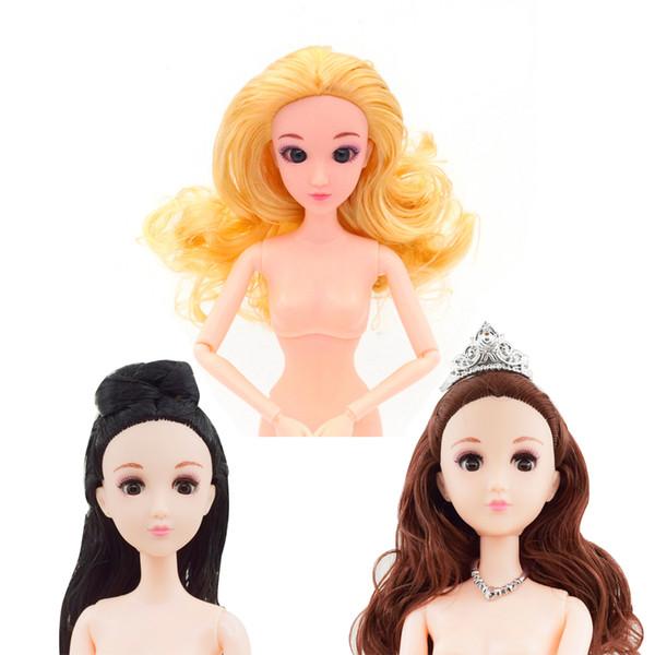 Dibujos De Barbie De Navidad.Compre Sorpresa Dolls 1 6 29 Cm 12 Conjunta Diy 4d Blink Eye Muneca Desnuda Barbie Muneca Princesa De Dibujos Animados De Juguete Al Por Mayor Para