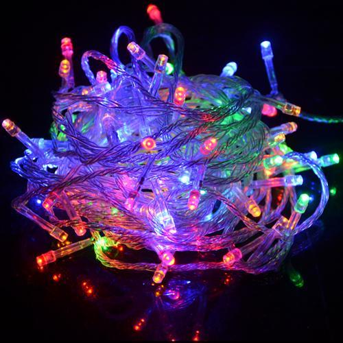 220V/110V Holiday String Fairy RGB light Christmas Wedding Party Festival Decoration lamp 10m 100led LED bulb kerstverlichting TY1600