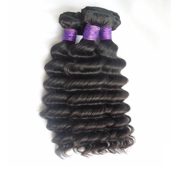 Deep Wave Brazilian Virgin Hair Bundles 8A Grade Unprocessed Virgin Human Hair Weaves 8-30 inch 3ps 4pcs Sew In Hair Weaving Extensions