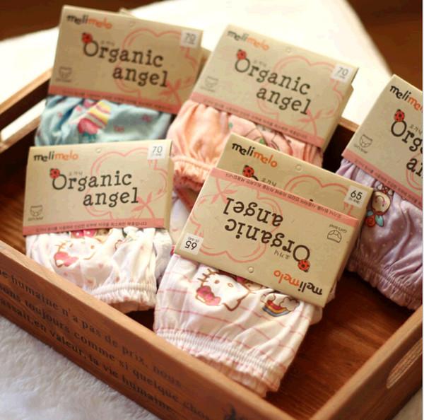 Ropa infantil de dibujos animados Patrón de algodón orgánico Bebé Niños lindos Chicas Calzoncillos Bragas Ropa para niños con paquete de tarjetas
