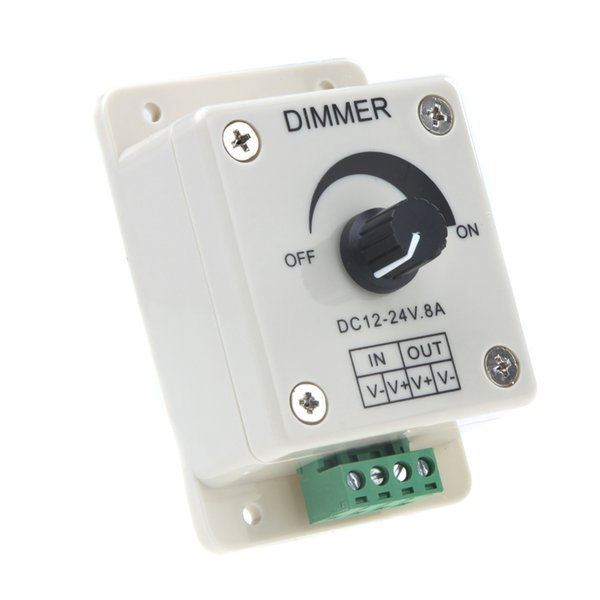 Mini Led Controller 1 CH OUTPUT Led Dimmer switch Controller For Single Color Light Strip SMD 5050 SMD 3528 free shipping