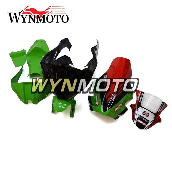 Fairings For Kawasaki ZX-10R 2011 - 2015 2012 2013 2014 Cowlings Covers Motorbike Panels Body Kits Fiberglass Green Red Hulls Covers Frames