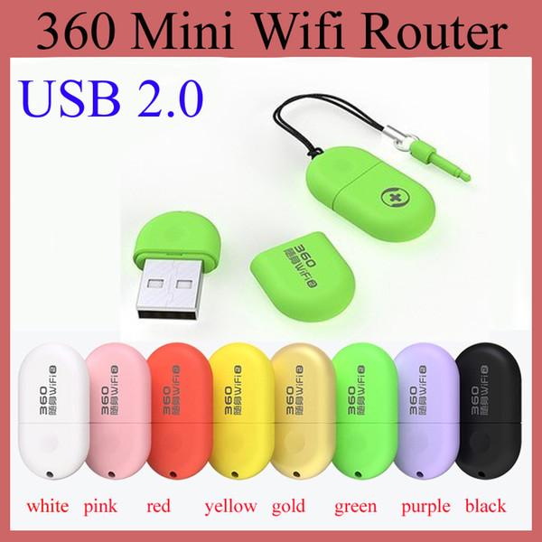 360 Mini Wifi Yönlendirici Taşınabilir Çin Marka USB 2.0 Soho Dahili Anten Dizüstü Dizüstü Cep Telefonu Tablet PC Sıcak Satış OTH115