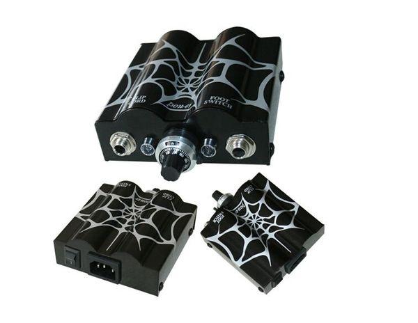 Tattoo power supply New pro Spider Web Double Wave Tattoo Power Supply Power Plug Supply tattoo & body art