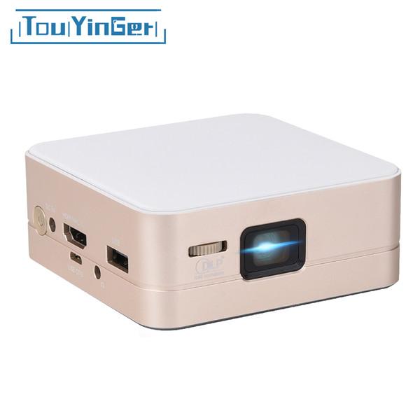 Toptan-Mini cep projektör T5 DLP 854 * 480 LED videoprojecterör beamer ev sineması taşınabilir veri göster pico retroprojetor Destek 1080 P