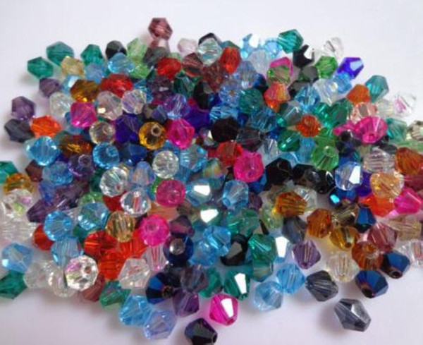 best selling Hot ! 1000pcs 9 color Faceted Crystal Bicone Beads 6mm Loose beads DIY Jewelry