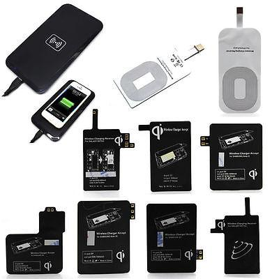Qi Wireless Charger Adapter Micto USB Charging Pad Receiver For iPhone Samsung Andriod Cell Phone Type-C