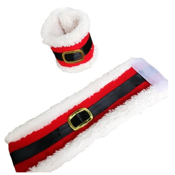 Christmas Belt Buckle Napkin Ring Tableware Dinner Santa Claus Cover Christmas Table Decorations Santa Claus Cover