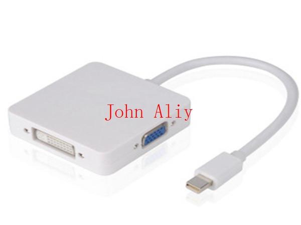New Mini DisplayPort to VGA HDMI DVI Adapter Cable Mini DP to HDMI Connector Mini DP 3 in 1 Converter For Macbook To Monitor TV