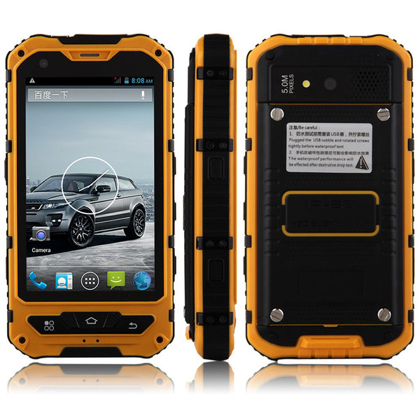 Original discovery A8 A8 IP68 Waterproof Shockproof Rugged Phone MTK6572 Dual Core 4.0'' Gorilla Glass Android 4.2 4GB 3G GPS 3000mAh 5.0MP