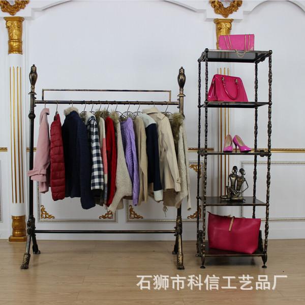 Iron clothing display clothing store shelf floor rack clothing rack wedding dress clothes shop shelves