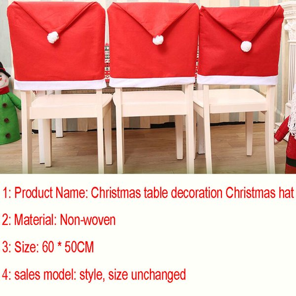 2017 new christmas chair covers santa clause red hat for dinner decor home decorations ornaments supplies dinner table party decor xl 347