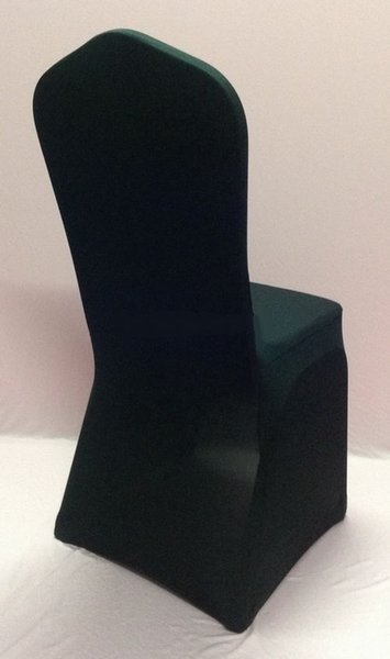 100pcs Black Lycra Wedding Chair Cover Arch Front ,Spandex Chair Cover for Weddings Events &Banquet &Party Decoration