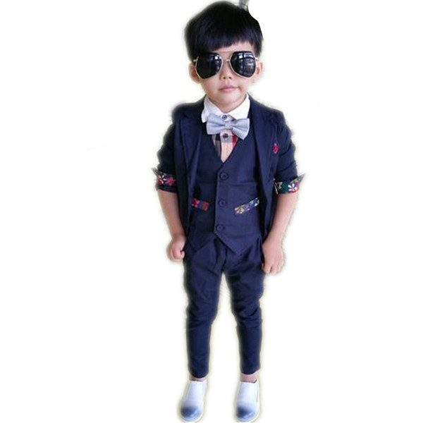 New High quality Children clothing suit kids boys suits for wedding three- piece suit children's small suit (jacket+pants+vest)