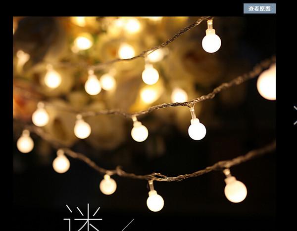 Grosshandel 10m 100led String Ball Lichter Weihnachten Lichterkette Blinklicht Led Strip Lampe Kugel Beleuchtung Fur Hochzeit Girlande Von