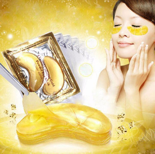top popular Gold Crystal Collagen Eye Mask Hotsale Eye Patches For the Anti Dark Circle Remove Black Eye Face Care 2021