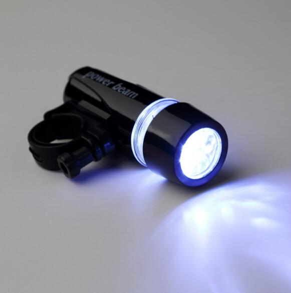 new arrival Bicycle 5 LED Power Beam Front Head Light Headlight Torch high quality free shipping
