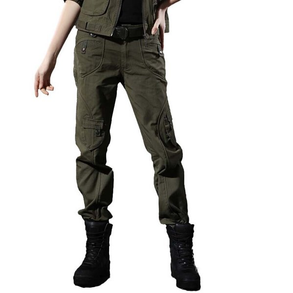 101 Airborne Fashion Knitting Women Military Pants Camouflage Cargo Pants US Army Union Trousers Outdoors Clothing for Women 2 Colors