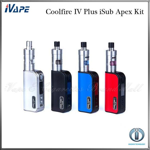 Innokin Coolfire IV Plus iSub Apex Kit With Cool Fire IV Plus 3300mah 70W Mod Battery 3ml iSub Apex Tank 100% Original
