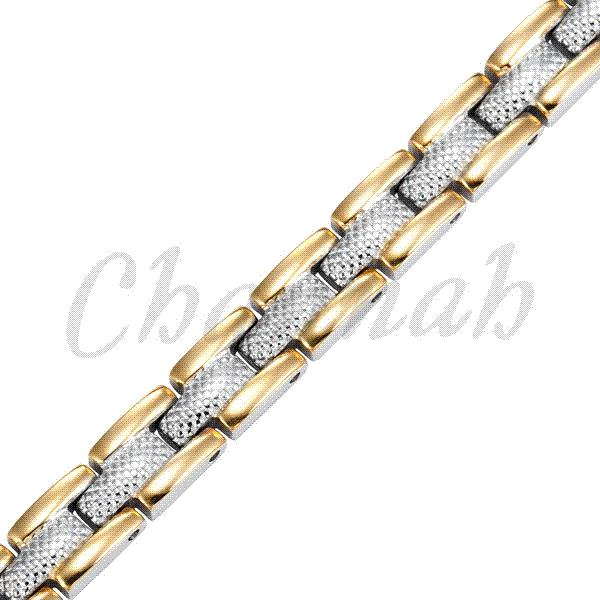 Ladies Silver 18K Gold 22pcs Magnets Jewelry Free Shipping Magnetic Stainless Steel Bracelet Bio Bangle 2015 via Hong Kong Post