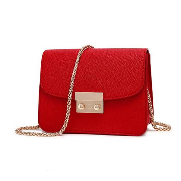 Coolwalker Designer Brand Bags Women Leather Handbags Chain Solid Shoulder  Bag Mini Bags Woman Messenger Bag Purses And Handbags 8f4ec4727b915