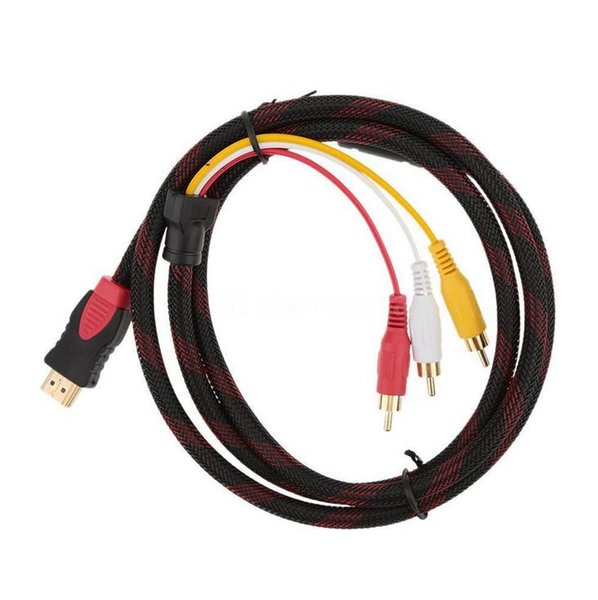 5Ft 1,5 Mt HDMI Stecker auf 3 RCA Stecker Video Audio AV Kabel Adapter Konverter Stecker 1 stücke