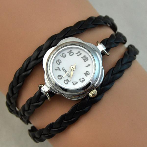 Charms Quartz Watches Fashion Infinity Bracelet Wrist Watches Women Watch Round Case Quartz Movement Mix Colors DHL Drop Free Shipping